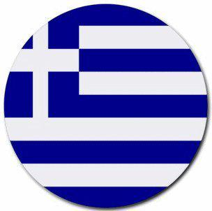 greece flag round